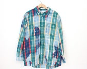 Bleached Shirt - Primary plaid