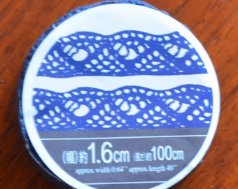 A Roll of Lace Tape (Blue)