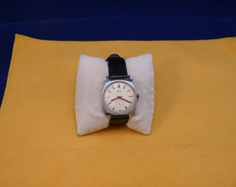 "USSR  ""ZIM"" wrist watch 1960-70 white unusual dial interesting case  Ultra Ultra Rare Perfect Like NEW"