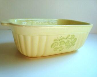 Pfaltgraft 16 oz ceramic loaf pan in creamy yellow
