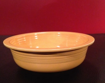 "Vintage Fiestaware 9 1/2""yellow nappy bowl"