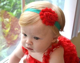 Baby headband, Christmas headband, first christmas, newborn headband, infant headbands, newborn photo prop. baby hair bow, accessories