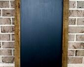 Upcycled Barnwood Chalkboard Bistro Sign