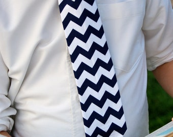 READY TO SHIP Black and White Chevron Tie for Teens and Men  by GreenStyle