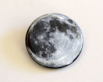 20 pieces Full Moon Lunar Magnets or Moon Buttons, celestial magnet gift, moon accessory, nasa, moon gift, moon & space