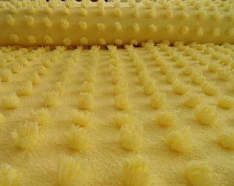 "DOWNSIZING SHOP SALE...Yellow Chenille Popcorn Vintage Bedspread Fabric Piece... 18 x 24"""