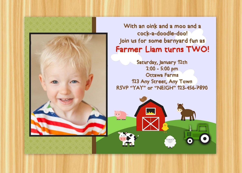 Farm Invitation Farm Birthday Party Farm Party Barnyard – Barnyard Birthday Invitations