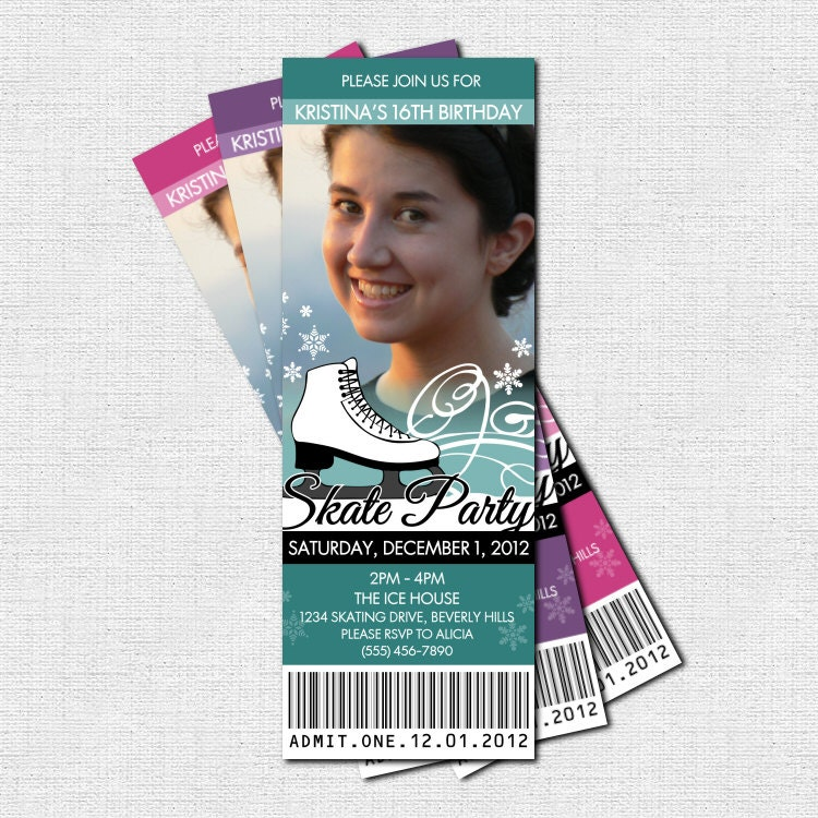 Ice Skating Birthday Invitations correctly perfect ideas for your invitation layout