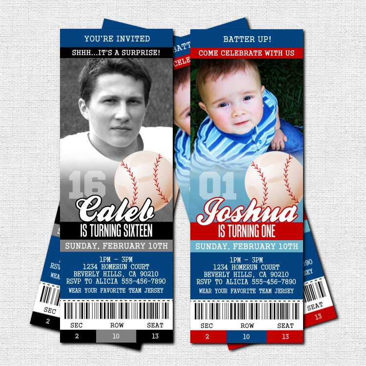 printable baseball ticket invitation template