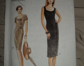 1996 Very Easy Very Vogue Beautiful Sweetheart Neckline Dress Uncut and in Factory Folds