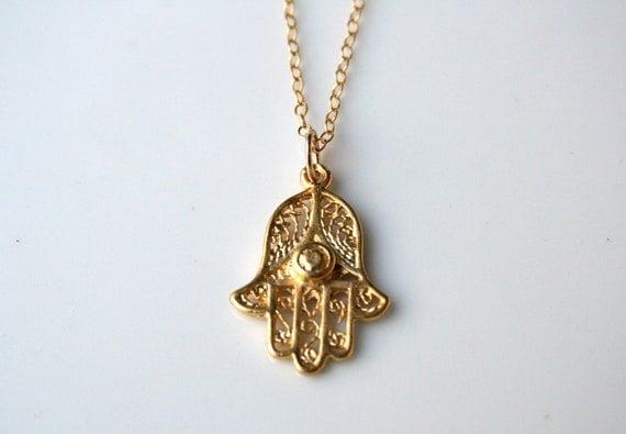 18k Gold Vermeil Hamsa Necklace