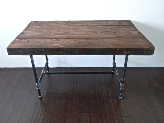 items similar to reclaimed wood desk or table with. Black Bedroom Furniture Sets. Home Design Ideas