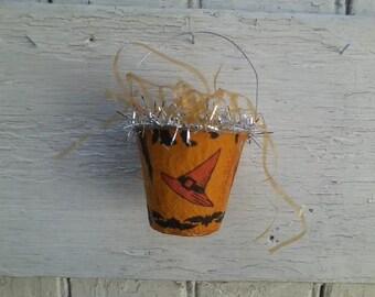 Vintage Halloween Treat Cups, Set of Six