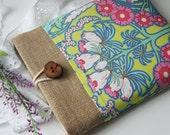 iPad Cover, iPad Sleeve, iPad Case and Handmade Wood Button