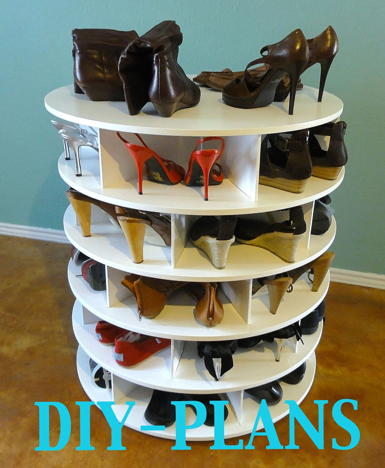 rotating shoe organizer