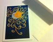 Greeting card of Night meets Day by artist James Scott Shoemaker