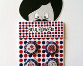 "SOUL FLOWERS 1"" Mod Pinback Button Set One"