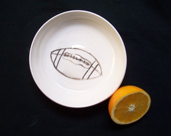 football cereal bowl