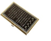 Lacquer wares inlaid with Mother of pearl Business card holder credit ID card case Korea alphabet  letter design