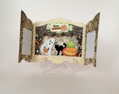 Handmade Halloween Ghost Shadow box Card