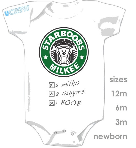 STARBOOBS MILKEE Onesie - The perfect gift for the coffee lover