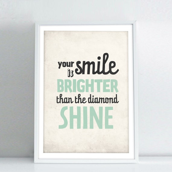 inspirational quotes poster your smile is brighter by