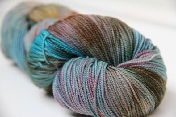 Timey Wimey - Brrrains 100% Merino Glazed Variegated Sock Yarn