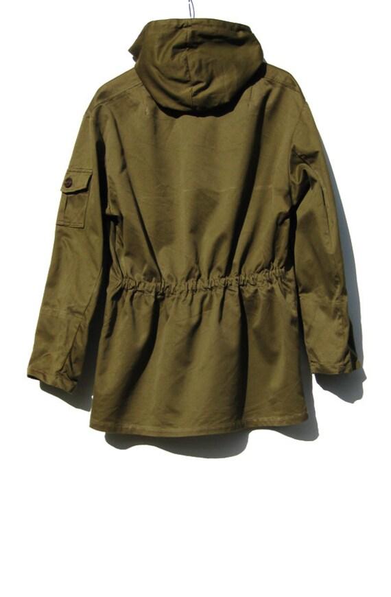 70s Military Olive Green Jacket - European Army Coat - Medium Large