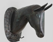 Horse Head Bust and Coat Rack