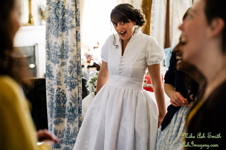Custom made wedding gown daphne short sleeves collar open for J crew daphne wedding dress