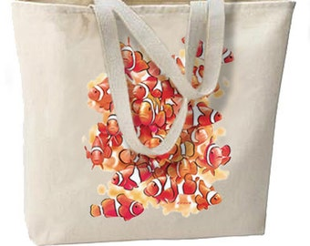 Beachy Clown Fish Nemo Clan New Oversize Tote Bag