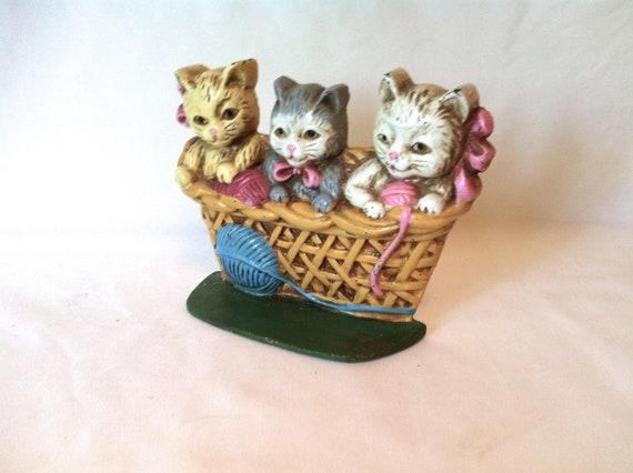 Kittens Door Stop Three Little Kittens Door Stop  Three Little Kittens lost their mittens