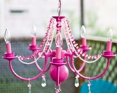 Victorian Mod Custom Chandeliers in any color  //pink, aqua blue, black, green & more// - SMALL