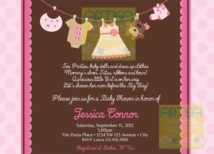 girl baby shower invitation baby girl shower invitation