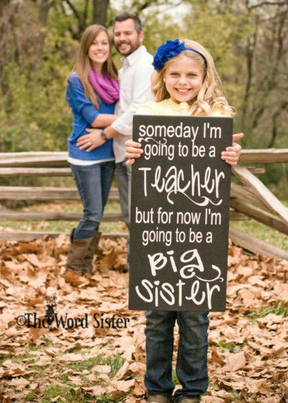 maternity photo shoot prop ideas - Sibling Pregnancy Reveal I m Gonna Be A Big Sister