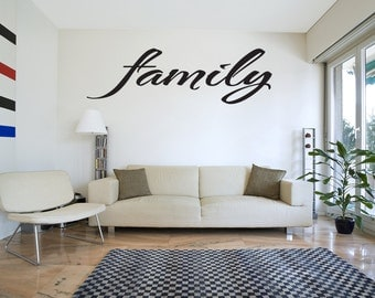 Family Vinyl Wall Art Decal Lettering Quote Saying Sticker Mural (v48)