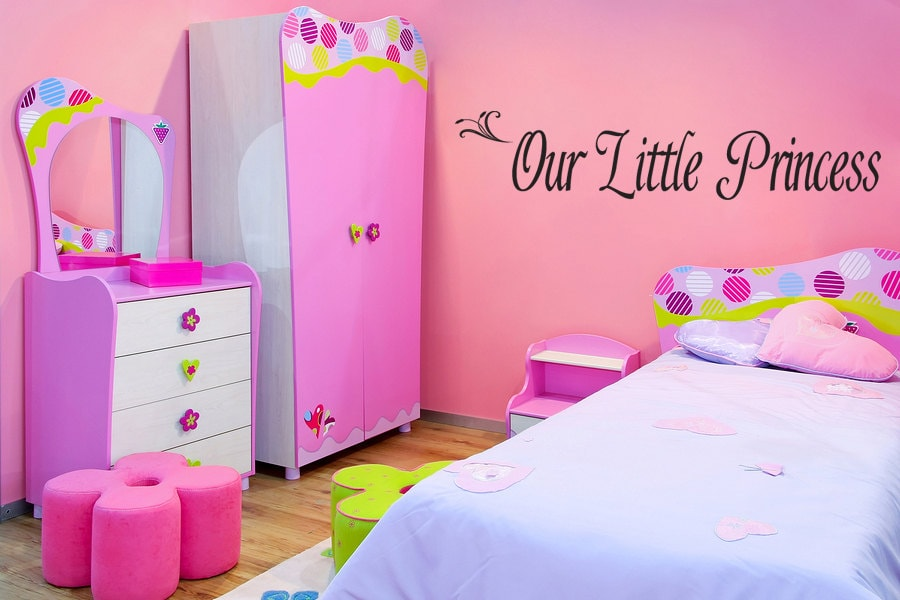 our little princess girls bedroom wall art by walldecalquotes - Decoration For Girls Bedroom