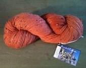 Queensland Rustic Tweed Yarn in Rust Color 909 -278 Yards Worsted Weight  -Donegal Wool Alpaca Blend - Knitting - Crocheting