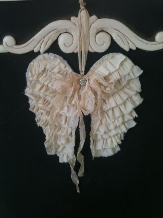 Items Similar To Angel Wings Door Knob Hanging Wreath Embellishment Or Wall Hanging Vintage