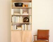 Deco Base Cabinet w/ Doors & Hutch / Bookcase