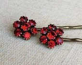 red hair accessories,valentines gift,hair accessories,valentines day, red, ruby, gift for her, red hairpin, bobby pin, red jewelry,etsygifts