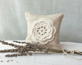 Linen Lavender Sachet - Natural Eco Friendly Gifts - Wedding Favor - Raw Linen dryed Lavanda.