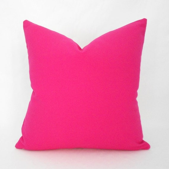 Pink Decorative Pillows : Hot Pink Decorative Pillow Cover ANY SIZE Hot Pink Pillow