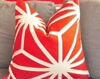 Pillow Cover, Decorative Pillow, Throw Pillow, Toss Pillow, Accent Pillow,  Red Trellis,  Home Furnishing, Home Decor