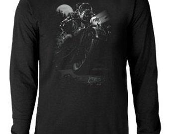 Long sleeve T-shirt / Biker Bulldog