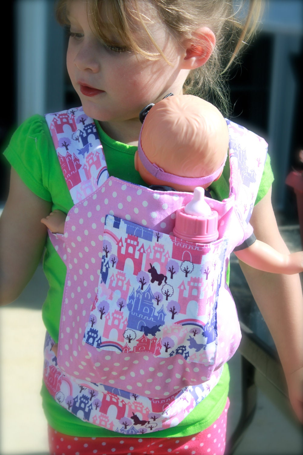 Just Like Mommy Baby Doll Carrier for Kids by StarSistersDesigns: https://www.etsy.com/listing/116400477/just-like-mommy-baby-doll-carrier-for