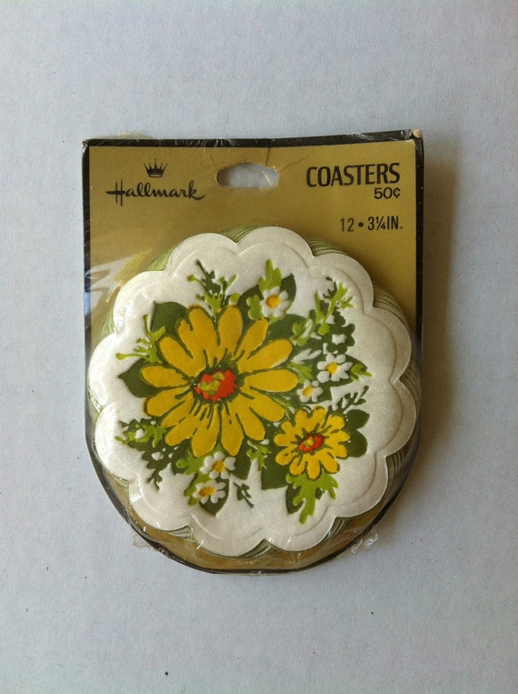 Vintage Hallmark Paper Coasters Set of 12