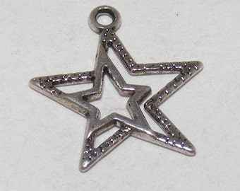 Huge and Big Silver Star Charm 5 for 2.99