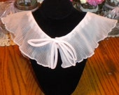 Vintage 1960s Pink Organza Collar Ruffled Beautiful Rare Mothers Day Graduation Epsteam