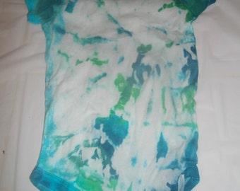 spirl tie dyed onesis